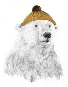 动物红色插画北极熊位图免费素材家里能放帽子布老虎吗图片