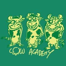 印花矢量图 可爱卡通 卡通动物 奶牛 文字 免费素材