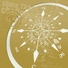 印花矢量图 罗盘 指南针 坐标 破碎风格 免费素材