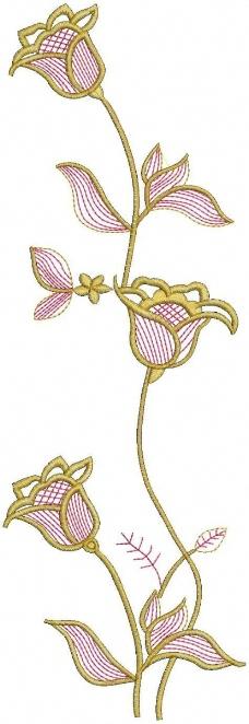 绣花 花卉 家纺 免费素材