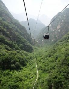 华山西峰索道图片