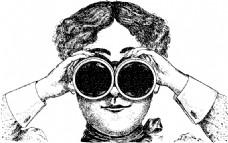 女士用双筒望远镜