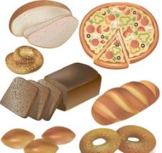 面包披萨图片