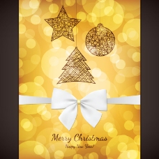 2014金色圣诞节背景矢量素材