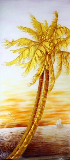 金色椰子树