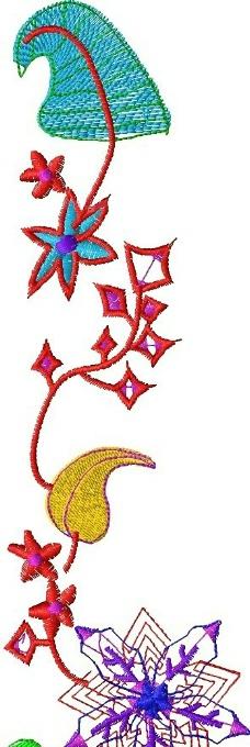 绣花 植物花卉 藤蔓 花纹 家纺 免费素材