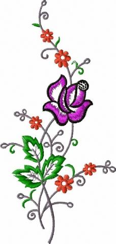 绣花 植物花卉 藤蔓 家纺 免费素材