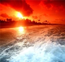 海边夕阳风光图片