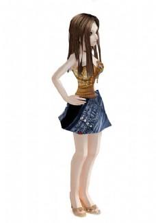 3DMAX儿童人物模型