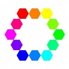 1点12连接的六边形