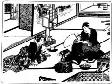 传统的日本夫妇