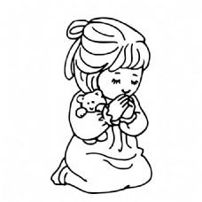 祈祷的女孩