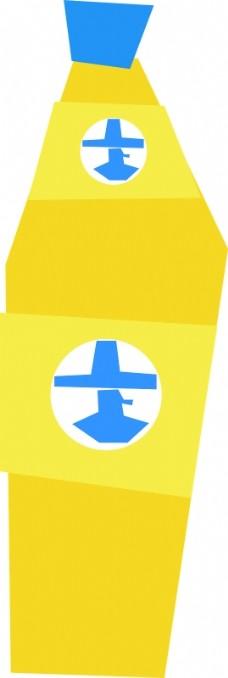 简单的卡通能量饮料瓶