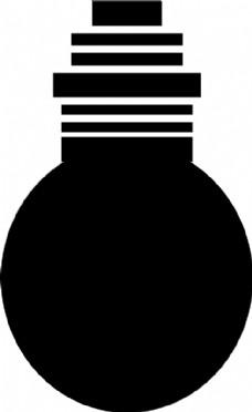 灯泡矢量素材黑白