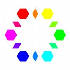 6个六边形6颗钻石