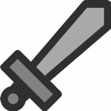 金属剑图标