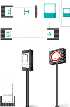 商場導視標識模板模型圖片