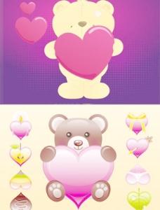 可爱的卡通小熊免费下载