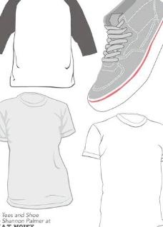 向量的衣服和鞋