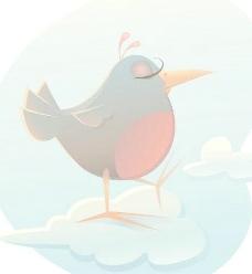 卡通小鸟矢量