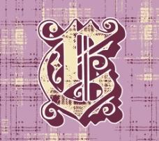 印花矢量图 徽章标记 紫棠色 丁香色 牙色 免费素材