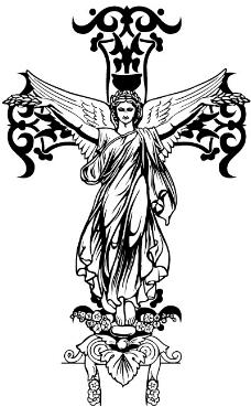印花矢量图 十字架 耶稣