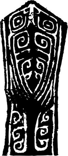 印花矢量图 古代雕刻 黑白色 民族 古代印记 免费素材