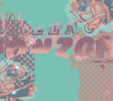 印花矢量图 英文 玫瑰花 五彩斑斓 渲染插画 免费素材
