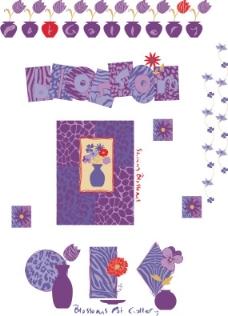 印花矢量图 人物 文字 色彩 花纹 免费素材