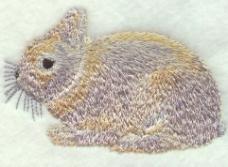 绣花 动物 兔子 色彩 银色 免费素材