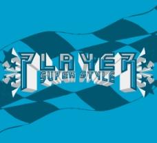 印花矢量图 文字 英文 色彩 蓝色 免费素材