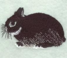 绣花 动物 兔子 色彩 黑色 免费素材