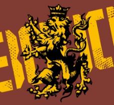 印花矢量图 动物 狮子 文字 英文 免费素材
