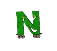 绣花 卡通文字 英文 字母 纯文字 免费素材
