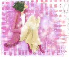 位图 人物 女人 色彩 粉红色 免费素材