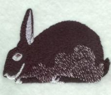 绣花 动物 兔子 色彩 褐色 免费素材