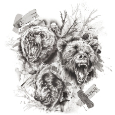 印花矢量图 图案概括 抽象动物 休闲 免费素材
