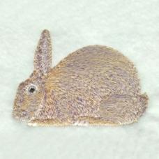 绣花 动物 兔子 色彩 灰色 免费素材