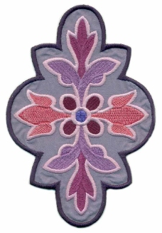 绣花 花纹 花边 色彩 灰色 免费素材