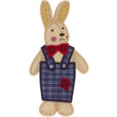 绣花 动物 兔子 色彩 乳黄 免费素材