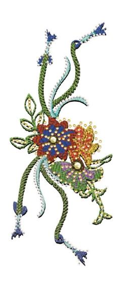绣花 植物 花 花纹 藤条 免费素材