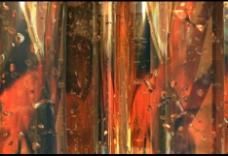 红色液体流动