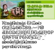 童话精灵王国专用英文字体