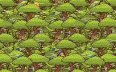卡通绿色森林