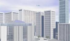 摩天大楼的城市 skyscraper city