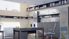 办公室 家庭办公室整体模型05