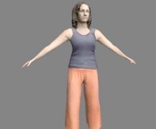 穿c字裤透明的女人