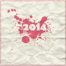 2014褶皱墨迹纸张矢量素材