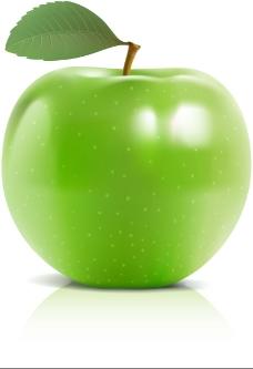 美味青苹果矢量素材
