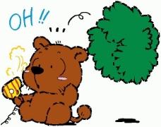位图 卡通动物 小熊 可爱卡通 文字 免费素材